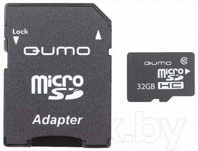 Карта памяти Qumo microSDHC (UHS-1) 32GB (QM32GMICSDHC10U1) - общий вид