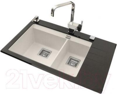 Мойка кухонная Aquasanita GQD150AW (силика) - общий вид