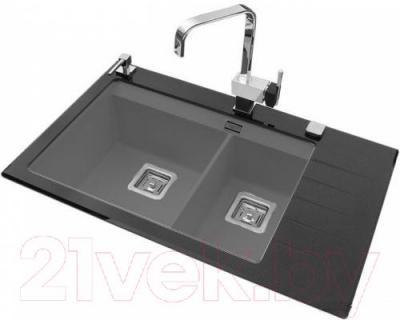 Мойка кухонная Aquasanita GQD150AW (металлик) - общий вид