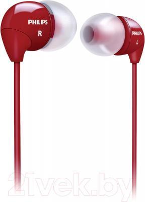 Наушники Philips SHE3590RD/10 - общий вид
