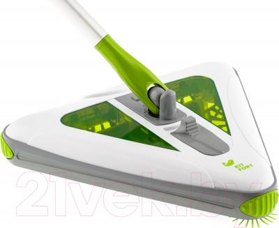 Электровеник Kitfort KT-508-1 (бело-зеленый) - угловая щетка