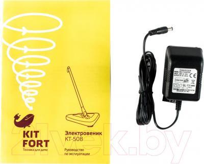 Электровеник Kitfort KT-508-1 (бело-зеленый)