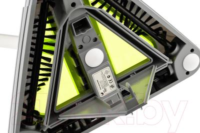 Электровеник Kitfort KT-508-1 (бело-зеленый) - открытие мусоросборника