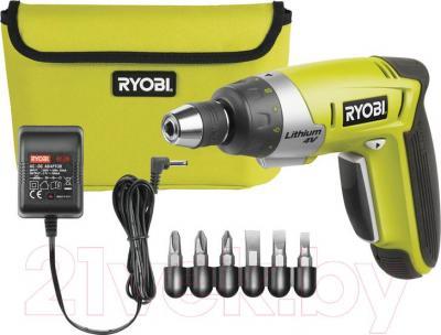 Электроотвертка Ryobi CSD4107BG (5133000139) - комплектация