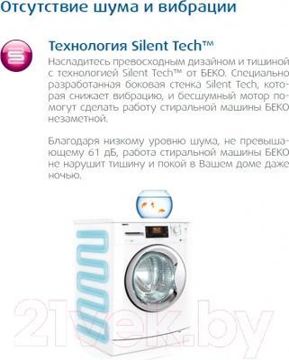 Стиральная машина Beko WKB 61031 PTYS - технология Silent-Tech
