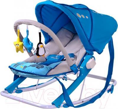 Детский шезлонг Caretero Aqua (синий) - общий вид