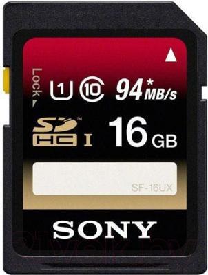 Карта памяти Sony Expert SDHC UHS-I (Class 10) 16GB (SF16UXT) - общий вид