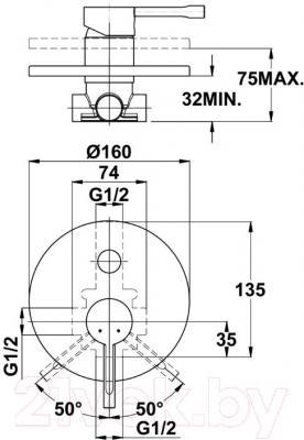 Смеситель Teka Alaior 551710200 - схема встраивания
