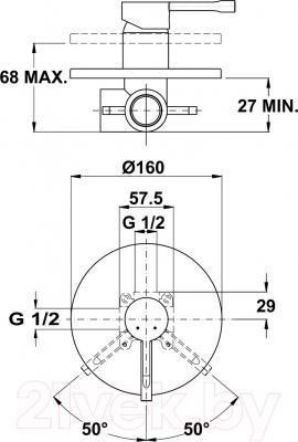 Смеситель Teka Alaior 552410200 - схематическое изображение