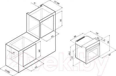Электрический духовой шкаф Fornelli FEA 45 SONATA - схема встраивания