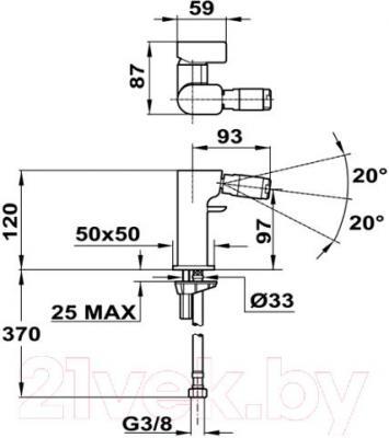 Смеситель Teka Formentera 626260200 - схема встраивания