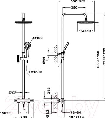 Душевая система Teka Alaior XL 222380200