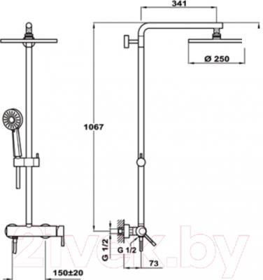 Душевая система Teka Alaior XL 222980200
