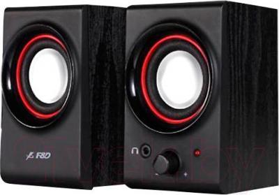 Мультимедиа акустика F&D R211U (черный) - общий вид