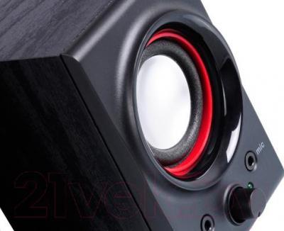 Мультимедиа акустика F&D R211U (черный) - крупный план