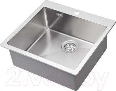 Мойка кухонная Aquasanita LUNA LUN 100S (сталь) - общий вид