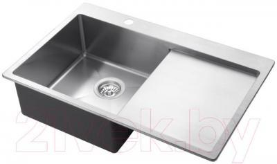 Мойка кухонная Aquasanita LUNA LUN 101NL (сталь) - общий вид