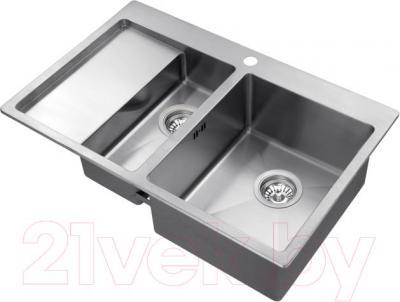 Мойка кухонная Aquasanita LUNA LUN 151NR (сталь) - общий вид