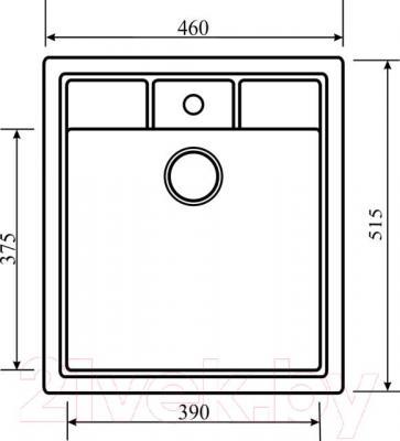Мойка кухонная Aquasanita SQN100W (бежевый) - схема