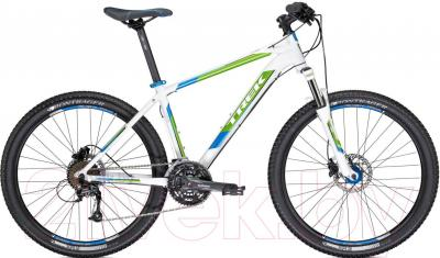 Велосипед Trek 4300 Disc (21.5, White-Green-Blue, 2014) - общий вид