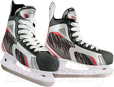 Коньки хоккейные Action PW-216DK (размер 41) - общий вид пары