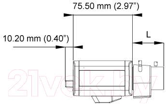 IP-камера GeoVision GV-BX2400-3V (84-BL15000-001D) - габаритные размеры