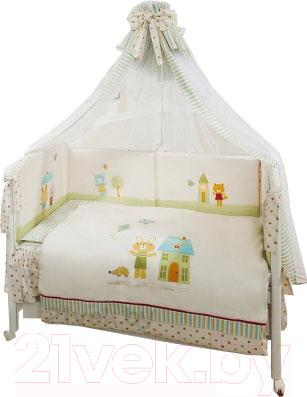 Комплект в кроватку Perina Глория Г4-01.0 (Happy days) - балдахин в комплект не входит
