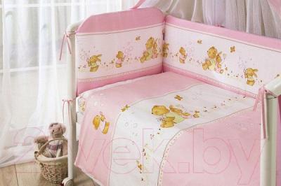 Комплект в кроватку Perina Фея Ф3-01.3 (Лето розовый)