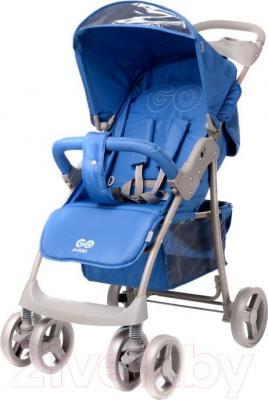 Детская прогулочная коляска 4Baby Guido 2015 (синий) - общий вид