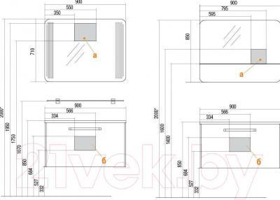 Зеркало для ванной Акватон Валенсия 90 (1A124202VA010)