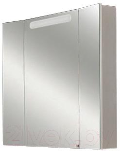 Шкаф с зеркалом для ванной Акватон Мадрид 80 (1А132102МA010)