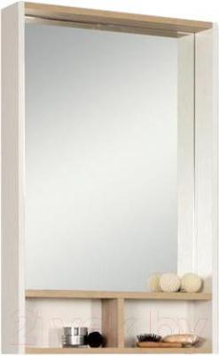 Шкаф с зеркалом для ванной Акватон Йорк 55 (1A173202YOAD0) - общий вид (аксессуары приобретаются отдельно)