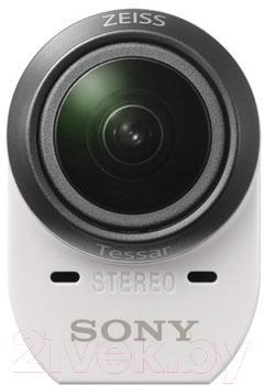 Экшн-камера Sony ActionCam HDR-AZ1VB (+велосипедный комплект крепления) - фронтальный вид