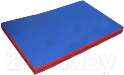 Гимнастический мат Зубрава 0.5x0.6x0.1 (сине-красный)