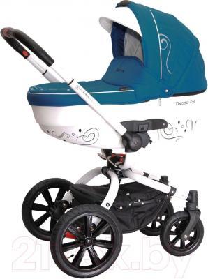 Детская универсальная коляска Coletto Marcello Art 2 в 1 BW (бирюзово-белый) - общий вид