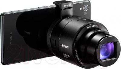 Объектив для смартфона Sony Cyber-shot DSC-QX30B - подключение к смартфону