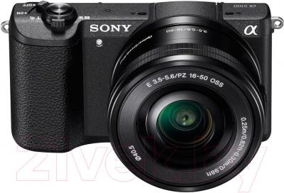 Беззеркальный фотоаппарат Sony ILC-E5100LB - вид спереди