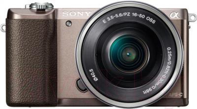 Беззеркальный фотоаппарат Sony ILC-E5100LT - вид спереди