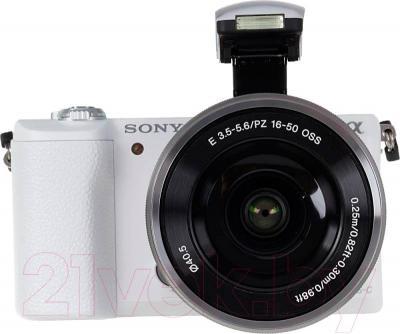 Беззеркальный фотоаппарат Sony ILC-E5100LW - вид спереди