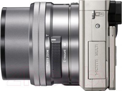 Беззеркальный фотоаппарат Sony ILC-E6000LW - вид сбоку
