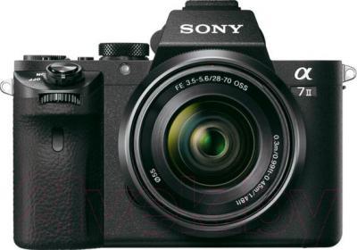 Беззеркальный фотоаппарат Sony ILCE-7M2KB Kit (FE 28-70/3.5-5.6 OSS) - вид спереди
