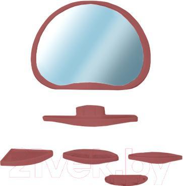 Комплект мебели для ванной Белпласт Уют с347-2830 (вишня) - общий вид
