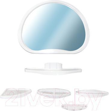 Комплект мебели для ванной Белпласт Уют с347-2830 (белый) - общий вид