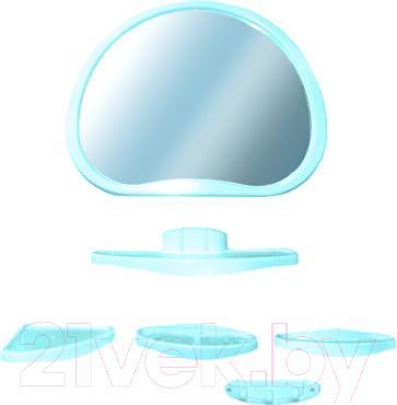 Комплект мебели для ванной Белпласт Уют с347-2830 (бирюза) - общий вид