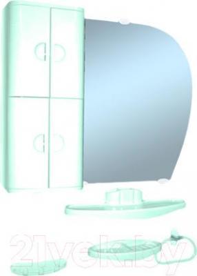 Комплект мебели для ванной Белпласт с346-2830 (бирюза, правосторонний) - общий вид