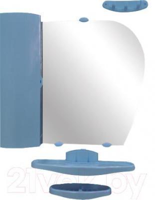 Комплект мебели для ванной Белпласт с419-2830 (голубой, левосторониий) - общий вид