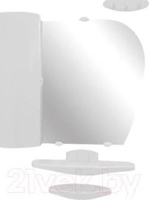 Комплект мебели для ванной Белпласт с419-2830 (белый, левосторонний) - общий вид