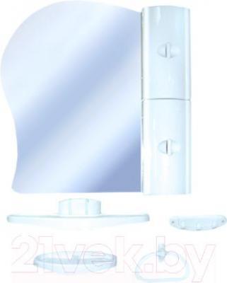 Комплект мебели для ванной Белпласт с341-2830 (голубой, правосторонний) - общий вид