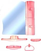 Комплект мебели для ванной Белпласт с341-2830 (вишня, правосторонний) -