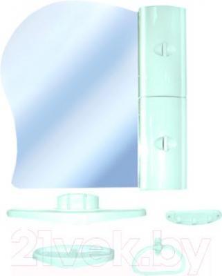 Комплект мебели для ванной Белпласт с341-2830 (бирюза, правосторонний) - общий вид